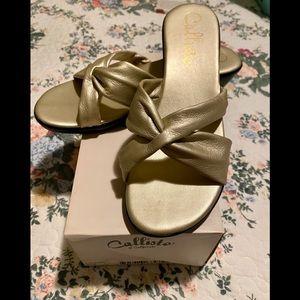 Size 8 gold Sandals
